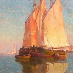 Italian Boats No.10 | Edgar Alwyn Payne | Oil Painting
