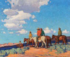 Navajo Riders | Edgar Alwyn Payne | Oil Painting