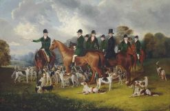 The Beaufort Hunt at Badminton | Edmund Havell the Younger | Oil Painting