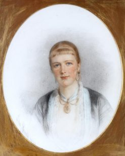 Oval Portrait of Mrs. E. V. Prior | Edmund Havell the Younger | Oil Painting
