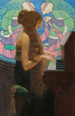 Sacred Music   Edward Okun?   Oil Painting