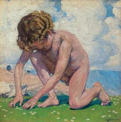 Julio(also known as Youth)   Edward Okun?   Oil Painting