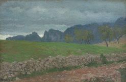 Landscape near Rocca di Mezzo   Edward Okun?   Oil Painting