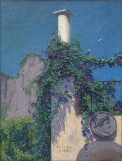 Per aspera ad astra   Edward Okun?   Oil Painting