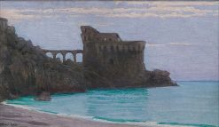 Fort by the Sea   Edward Okun?   Oil Painting