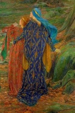 In Awe | Edwin Austin Abbey | Oil Painting
