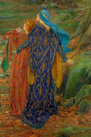 In Awe | Edwin Austin Abbey | Oil Painting