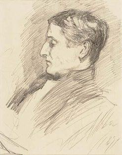 Gentleman in Profile | Edwin Austin Abbey | Oil Painting