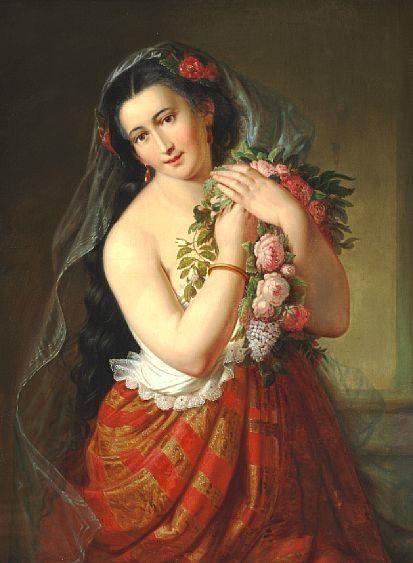 Flora   Elisabeth Jerichau Baumann   Oil Painting