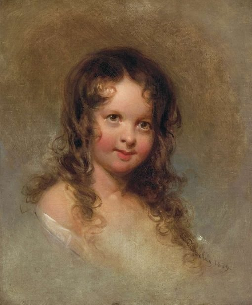 Bust of a Young Girl | Emanuel Gottlieb Leutze | Oil Painting