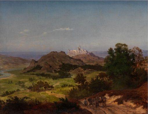 Landscape with Village | Emanuel Gottlieb Leutze | Oil Painting