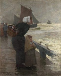 The Wife of a Fisherman(also known as La femme du pe?cheur)   Eugene Lawrence Vail   Oil Painting