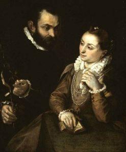 Double Portrait of della Rovere and His Wife | Federico Barocci | Oil Painting