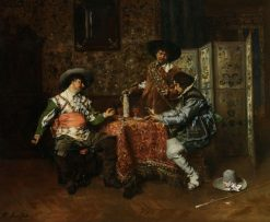 A Game of Cards | Ferdinand Roybet | Oil Painting