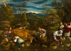 Autumn with Moses Receiving the Ten Commandments | Francesco Bassano the Younger | Oil Painting