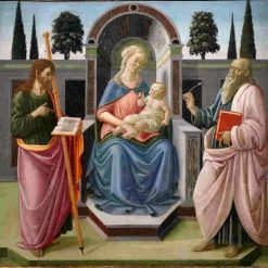 Madonna and Child with Saint James the Elder and Saint John the Evangelist | Francesco Botticini | Oil Painting