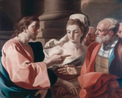 Christ and the Woman Taken in Adultery | Francesco de Mura | Oil Painting