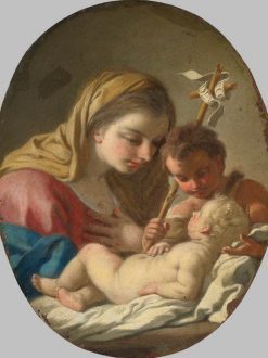 Virgin and Child with the Infant St John the Baptist | Francesco de Mura | Oil Painting