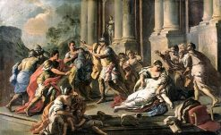 Horatius Slaying His Sister after the Defeat of the Curiatii | Francesco de Mura | Oil Painting