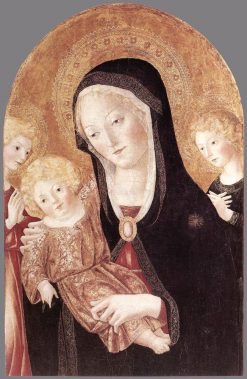 Madonna and Child with Two Angels | Francesco di Giorgio Martini | Oil Painting