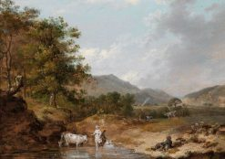 A View of Glen Molaur | Francis Wheatley | Oil Painting