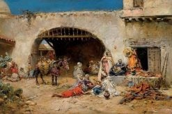Arab Market | Francisco Pradilla y Ortiz | Oil Painting