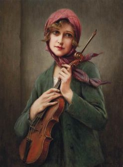 The Violinist | Francois Martin Kavel | Oil Painting