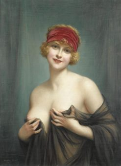 Young Woman in a Negligee(also known as Jeune femme en deshabille) | Francois Martin Kavel | Oil Painting
