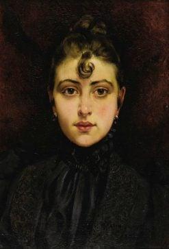 Portrait of a Young Woman(also known as Portrait de jeune femme) | Francois Martin Kavel | Oil Painting
