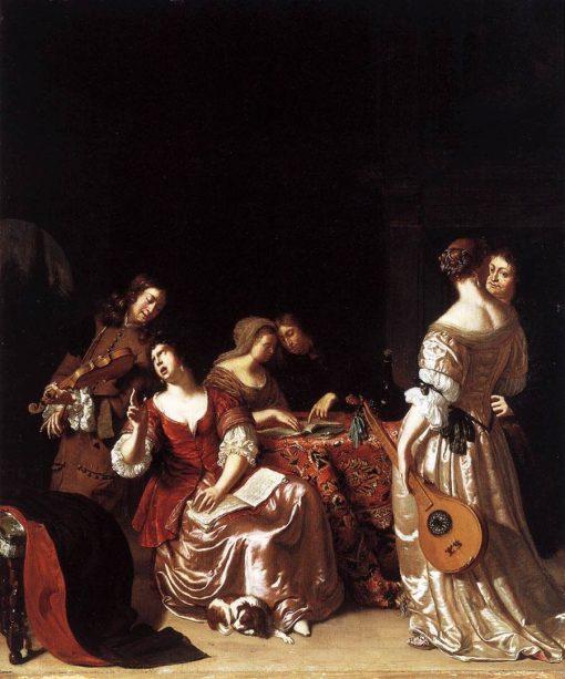 Musical Company | Frans van Mieris the Elder | Oil Painting