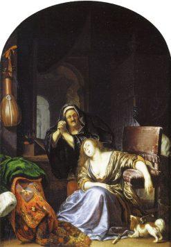 Te Death of Lucretia | Frans van Mieris the Elder | Oil Painting
