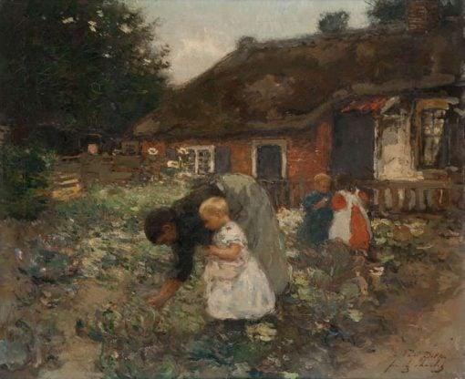 Children in the Garden | Frantz Charlet | Oil Painting