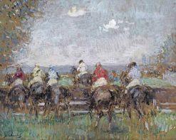 Aux courses | Frantz Charlet | Oil Painting