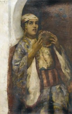 Young Moroccan with Tamborine | Frantz Charlet | Oil Painting