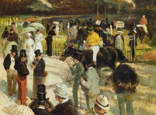 Au pesage | Frantz Charlet | Oil Painting