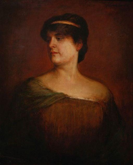 Portrait of a Roman Woman | Franz von Lenbach | Oil Painting