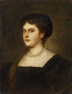 Portrait der Schwagerin Magdalena Lenbach | Franz von Lenbach | Oil Painting