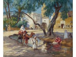 A View of an Algerian Village | Frederick Arthur Bridgman | Oil Painting