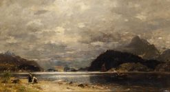 Fishermen by the Shore | Georg Anton Rasmussen | Oil Painting