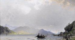 Return of the Fishing Fleet | Georg Anton Rasmussen | Oil Painting