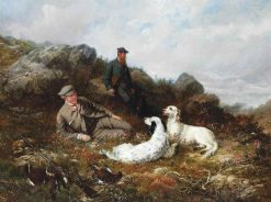 A Rest from the Shoot | George Earle | Oil Painting