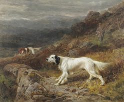 Gundogs and Sportsmen Upon a Moor