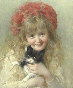 Her Favourite Pet | George Elgar Hicks | Oil Painting