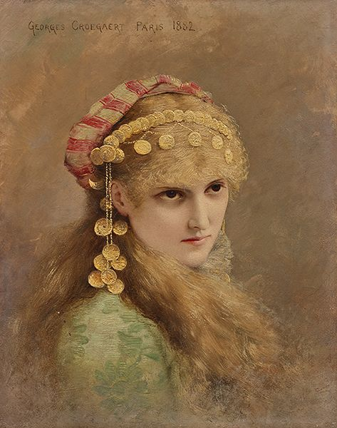 Counterpart: A Blonde | Georges Croegaert | Oil Painting