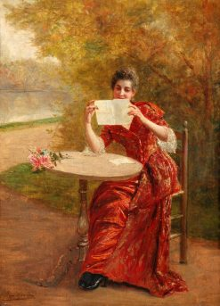 The Love Letter | Georges van den Bos | Oil Painting