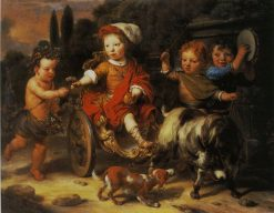 William Woutersz. Oorthoorn in a Goat-cart | Gerbrand van den Eeckhout | Oil Painting