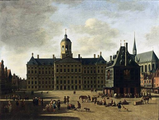 Amsterdam: View of the Dam with the Town Hall | Gerrit Adriaensz.Berckheyde | Oil Painting