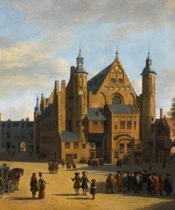Den Haag: View of the Binnenhof with the Ridderzaal   Gerrit Adriaensz.Berckheyde   Oil Painting