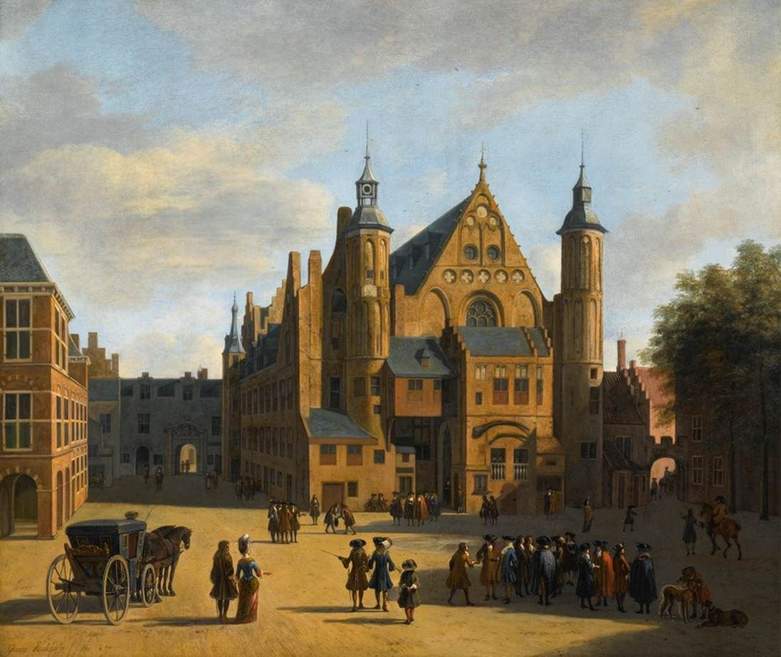Den Haag: View of the Binnenhof with the Ridderzaal | Gerrit Adriaensz.Berckheyde | Oil Painting