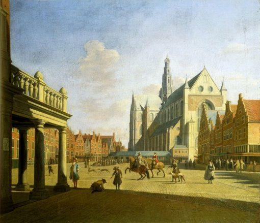 The Grote Markt in Haarlem | Gerrit Adriaensz.Berckheyde | Oil Painting